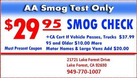 Advantage Plus Smog Test Coupons in Tustin | Smog Check Stations ...