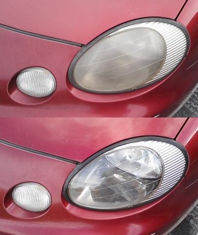 How to Clean Up Cloudy Headlight Lenses