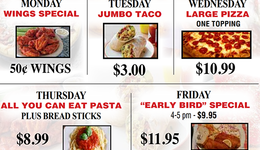 Cheektowaga Daily Dine in Specials