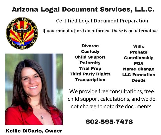 Arizona Legal Document Services LLC Phoenix DataSphere - Legal document preparation services