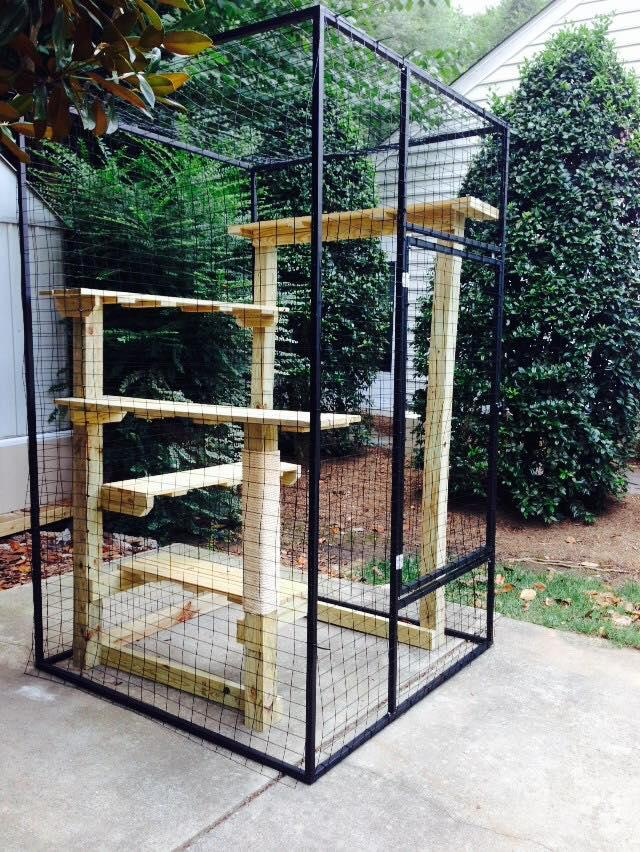 Long Lasting Extruded Aluminum Tubing, Catio Furniture Designed To Meet  Your Cats Needs Giving Them Plenty Of Vertical Space For Bird Watching And  Climbing.